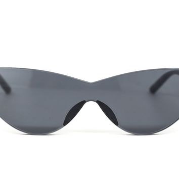 Graphite Cat Eye Sunglasses