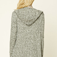 Hooded Marled Knit Cardigan