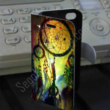 rainbow Dream Catcher Leather Folio Case for iPhone and Samsung Galaxy