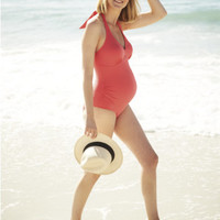 Blooming Marvellous Maternity Coral Swimsuit - maternity bikinis & tankinis - Mothercare