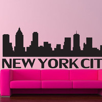 Wall Vinyl Sticker Decals Decor Mural Art New York City Big Apple 155