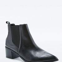Percy Black Leather Point Ankle Boots - Urban Outfitters
