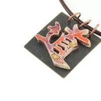Tao Symbol Necklace - Handmade Ceramic Pendant