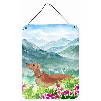 Mountian Flowers Red Dachshund Wall or Door Hanging Prints CK1967DS1216