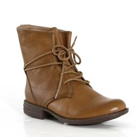 Wanted Shoes Leroy Lace Up Boots in Taupe LEROY-TAUPE