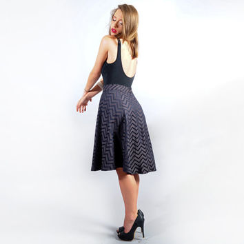 Grey zigzag skirt