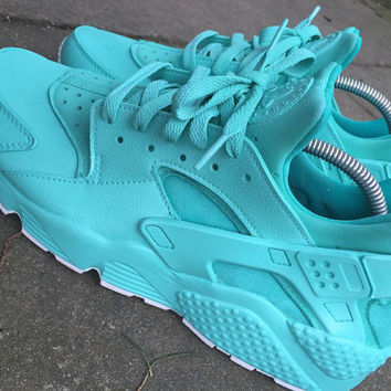 Tiffany full Nike Huarache unisex customs.