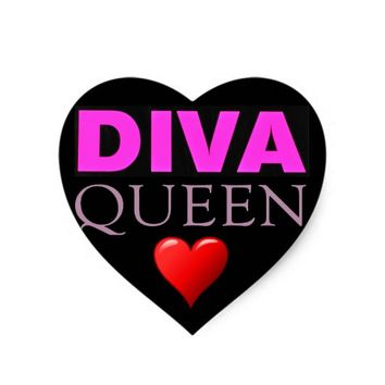 Diva Heart Sticker