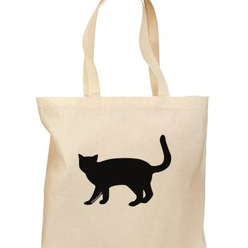 Cat Silhouette Design Grocery Tote Bag by TooLoud