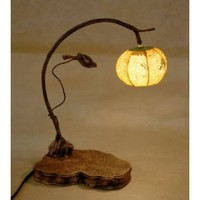 Amazon.com: Mulberry Rice Paper Ball Handmade Bird Branch Design Art Shade Yellow Round Globe Lantern Brown Asian Oriental Decorative Bedside Accent Unique Home Decor Table Desk Lamp: Home Improvement