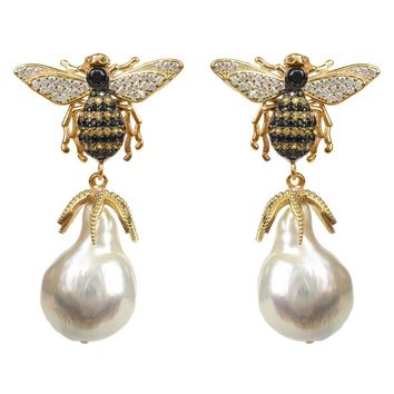 Rose Gold Pearls Butterfly Stud Earring Necklace Ring Jewelry Set