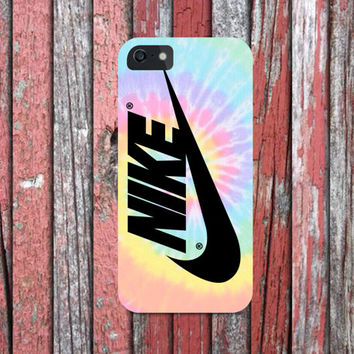 Nike Swoosh Logo Tie Dye Pastel Color for all phone device