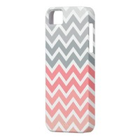 Pink Fade Zigzag Chevron Pattern iPhone 5 Case from Zazzle.com