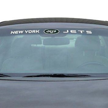 New York Jets NFL Licensed Auto Car Truck Windshield Decal