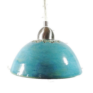 Handcrafted Pottery Hanging Light Shade Made to fit your fixture
