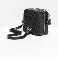 & Other Stories | Braided Shoulder Bag | Black