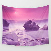 Frosty morning Vigra,Norway by Healinglove Wall Tapestry by Healinglove Art Products