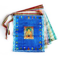 Tibetan Buddhist Colored Silk Prayer Flags