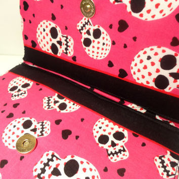Pink Skull Wallet/Make-up Bag-Ready to Ship