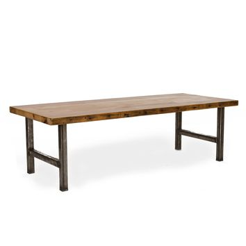Urban Wood and Steel Coffee Table
