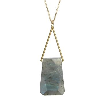 Lago Necklace in Labradorite