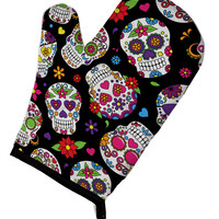 Day of the Dead Black Oven Mitt BB5116OVMT