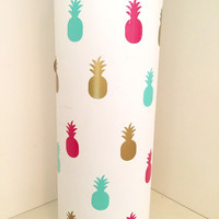 Pineapple Vinyl Hydro Flask Stickers