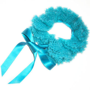 Shades of Sea Scarflette in Turquoise Blue