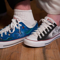 Custom Hand Painted Fandom Wedding shoes by GallifreyanMarket