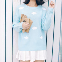 Sky Cloud Knitted Sweater from Sandysshop
