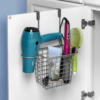 Bathroom Hair Organizer for Blow Dryer, Curling Irons,Hair Accessories,Brushes