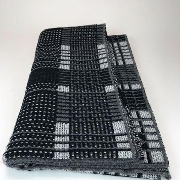 Chanel Cashmere Shawl Scarf. Black And Grey. Brand New!!