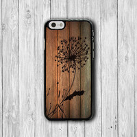 Dandelion Wood Flower iPhone 6 Cases iPhone 6 Plus, iPhone 5S, iPhone 5 Case, iPhone 5C Case, iPhone 4S Case, iPhone 4 Wooden Printed Floral