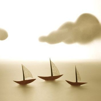 Sailing along together by theaterclouds on Etsy