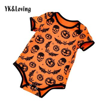 Halloween Baby Clothes Pumpkin Pattern Baby Boy Romper One-piece eb178ff2ca63