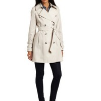 Via Spiga Women`s Brigitte Double-Breasted Trench $124.99