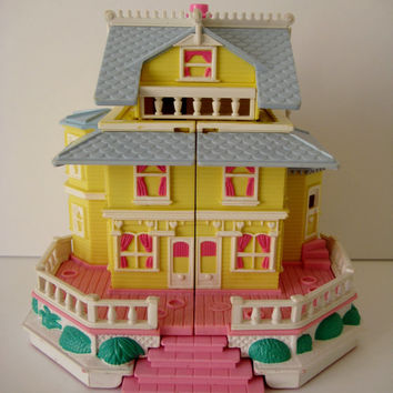 Vintage Polly Pocket Clubhouse 1995 Bluebird Pop Up House Victorian Mansion Miniature Toy Pollyville NO Figures Included Clean USED