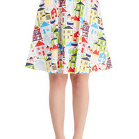 Mid-length A-line Yea or Neighborhood Skirt