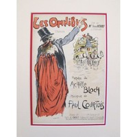 Pre-owned Vintage 1900s French Song Sheet, Airelle -Steinlen