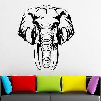 Wall Stickers Vinyl Decal Elephant Animal Tribal Great Room Decor Unique Gift (ig1808)
