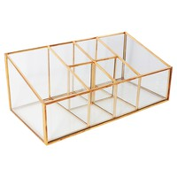 Threshold™ Glass and Metal Incline 6 Compartment Vanity Organizer