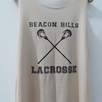 Teen Wolf Beacon Hills Lacrosse Tank Top Vest Women T shirt SizeS,M,L