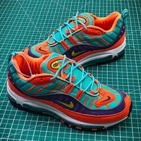 Nike Air Max 98 Cone Tour Yellow Hyper Grape 924462-800 Sport Running Shoes - Best Online Sale