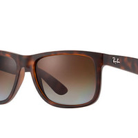 Ray Ban Justin RB4165 Tortoise Frame Brown Gradient Polarized 54mm Lens Sunglass