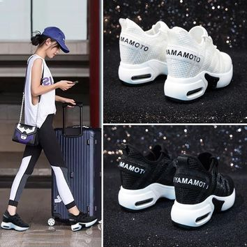 Dumoo 2018 High Heel 8cm Lady Casual White Sneakers Shoes Women Leisure Platform Wedges Height Increasing Shoes zapatillas mujer