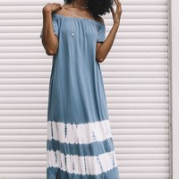Up High Blue Tie Dye Dress