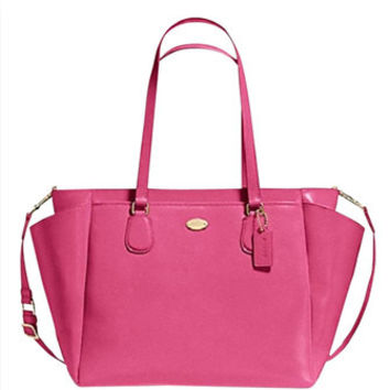 Coach Crossgrain Leather Baby Diaper Multifunction Bag