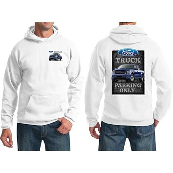 Ford Truck Hoodie Parking Sign Front and Back