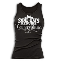 Women's Some Days Require Tank Top - Black