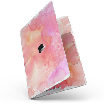 Pinkish 1102 Absorbed Watercolor Texture - MacBook Pro without Touch Bar Skin Kit